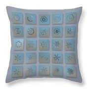 Snowflake Collage - Season 2013 Bright Crystals Throw Pillow