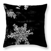 Snowflake Jewels Throw Pillow