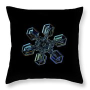 Snowflake Photo - High Voltage IIi Throw Pillow by Alexey Kljatov