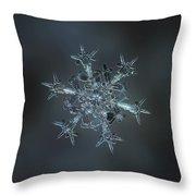Snowflake Photo - Starlight II Throw Pillow by Alexey Kljatov