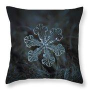 Snowflake Photo - Vega Throw Pillow by Alexey Kljatov
