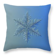 Snowflake Photo - Winter Is Coming Throw Pillow