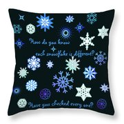 Snowflakes 2 Throw Pillow