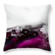 Snowflakes On Magenta Throw Pillow