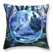 Snowglobular Throw Pillow