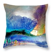 Snowing All Over Spain Throw Pillow
