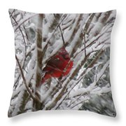 Snowing Throw Pillow