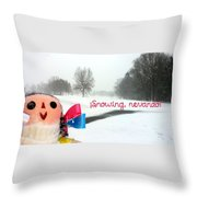Snowing Nevando Throw Pillow