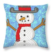 Snowman 2015 Throw Pillow