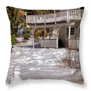 Snowman Big Bear California Throw Pillow