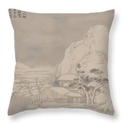 Snowscape From Album For Zhou Lianggong Throw Pillow
