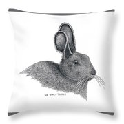 Snowshoe Hare Throw Pillow