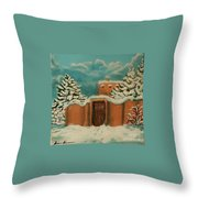 Snowstorm In Santa Fe Throw Pillow