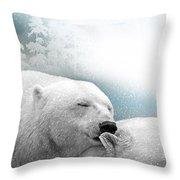 Snowstorm Kiss Throw Pillow