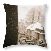 Snowy Afternoon Throw Pillow by Silvia Ganora