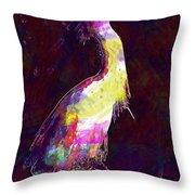 Snowy Egret Waterfowl Bird Large  Throw Pillow