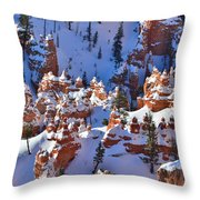 Snowy Fairy Castle Throw Pillow