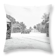 Snowy Gates Of Chisolm Island Throw Pillow
