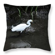 Snowy In The Mud Throw Pillow