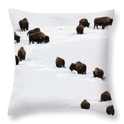 Snowy Migration Throw Pillow