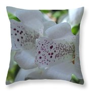 Snowy Mountain Digitalis Throw Pillow