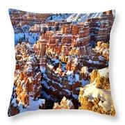 Snowy Overlook Throw Pillow