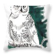 Snowy Owl II Throw Pillow