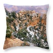 Snowy Pillar 2 - Grand Canyon Throw Pillow