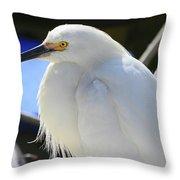 Snowy Profile Throw Pillow