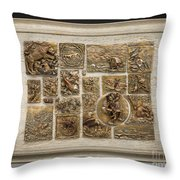 Snowy Range Life - Large Relief Panel Throw Pillow