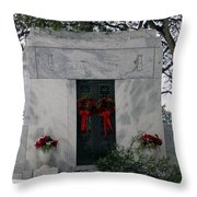 Snowy Rest Throw Pillow