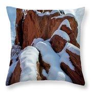 Snowy Ridge Throw Pillow