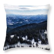 Snowy Ridges - Impressions Of Mountains Throw Pillow