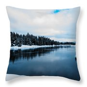 Snowy River Banks Throw Pillow