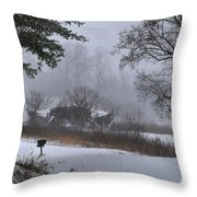 Snowy Road 2 Throw Pillow