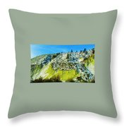 Snowy Rock Mountain Throw Pillow