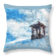 Snowy Rooftop  Throw Pillow