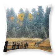 Snowy Silence Throw Pillow