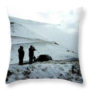Snowy Switchbacks On Pikes Peak Throw Pillow