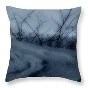 Snowy Tranquility Throw Pillow