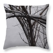 Snowy Tree II Throw Pillow