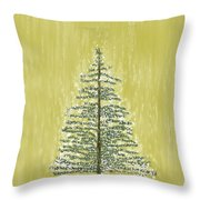 Snowy Tree Throw Pillow