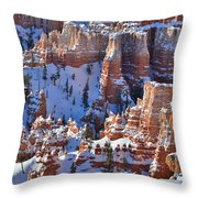 Snowy Turrets Throw Pillow