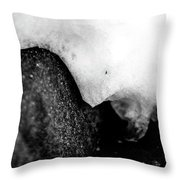 Snowy Underhang Throw Pillow