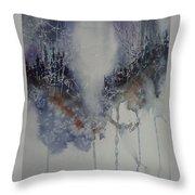 Snowy Web Trees Throw Pillow
