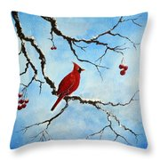 Snowy Wonder Throw Pillow