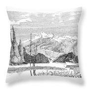Snug Harbor Alaska Anchorage Throw Pillow