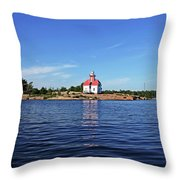 Snug Harbour Lighthouse Throw Pillow