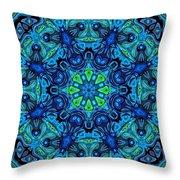 So Blue - 04v2 - Mandala Throw Pillow