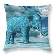 So Blue Without You Throw Pillow